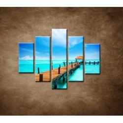 Obrazy na stenu - Mólo - 5dielny 100x80cm