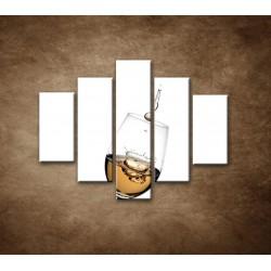 Obrazy na stenu - Biele víno - 5dielny 100x80cm