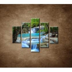 Obrazy na stenu - Horský potok - 5dielny 100x80cm