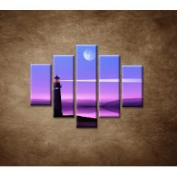 Obrazy na stenu - Nočný maják - 5dielny 100x80cm