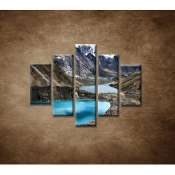 Obrazy na stenu - Tri lagúny - 5dielny 100x80cm