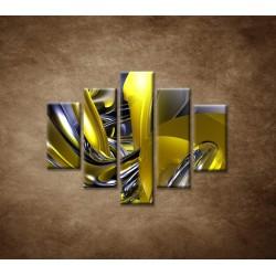 Obrazy na stenu - Žltá abstrakcia - 5dielny 100x80cm