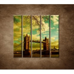 Obrazy na stenu - Londýn - Tower Bridge - 5dielny 100x100cm
