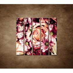 Kytica kvetov - 5dielny 100x100cm