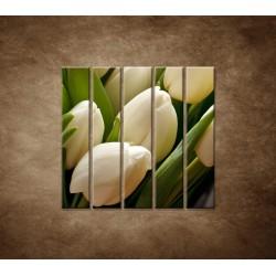 Kytica tulipánov - detail - 5dielny 100x100cm