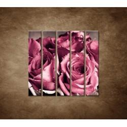 Kytica ruží - 5dielny 100x100cm