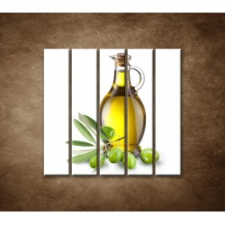 Obrazy na stenu - Olivový olej - 5dielny 100x100cm