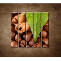 Obrazy na stenu - Káva - 5dielny 100x100cm