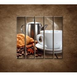 Obrazy na stenu - Raňajky - 5dielny 100x100cm