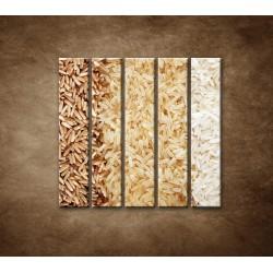Obrazy na stenu - Tri druhy ryže - 5dielny 100x100cm