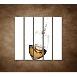 Obrazy na stenu - Biele víno - 5dielny 100x100cm