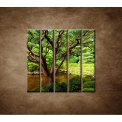 Obrazy na stenu - Japonská záhrada - 5dielny 100x100cm