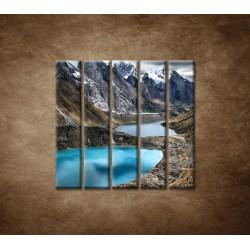 Obrazy na stenu - Tri lagúny - 5dielny 100x100cm