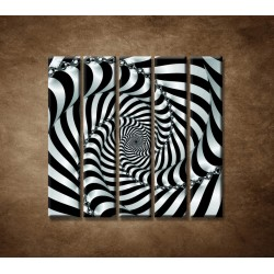 Obrazy na stenu - 3D špirála - 5dielny 100x100cm
