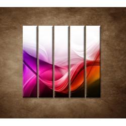 Obrazy na stenu - Farebná vlna - 5dielny 100x100cm