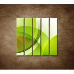 Obrazy na stenu - Zelená abstrakcia - 5dielny 100x100cm