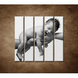 Obrazy na stenu - Dieťatko - 5dielny 100x100cm
