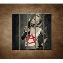 Obrazy na stenu - Rockerka - 5dielny 100x100cm