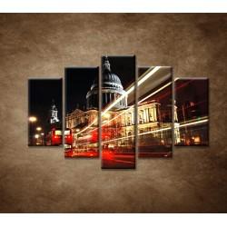 Obrazy na stenu - Nočný Londýn - 5dielny 150x100cm