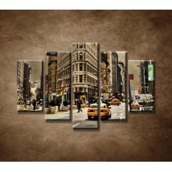 Obrazy na stenu - Žehlička - New York - 5dielny 150x100cm