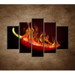 Obrazy na stenu - Pálivá paprička - 5dielny 150x100cm