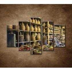 Obrazy na stenu - Stará vínna pivnica - 5dielny 150x100cm