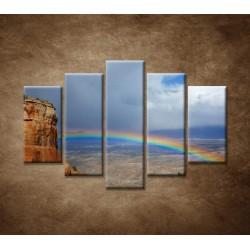 Obrazy na stenu - Dúha na horách - 5dielny 150x100cm