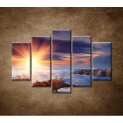 Obrazy na stenu - Slnko na horách - 5dielny 150x100cm