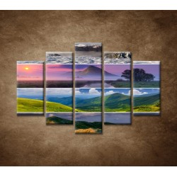 Obrazy na stenu - 4 ročné obdobia - 5dielny 150x100cm