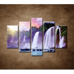 Obrazy na stenu - Vodopád - 5dielny 150x100cm