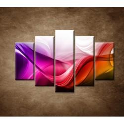 Obrazy na stenu - Farebná vlna - 5dielny 150x100cm