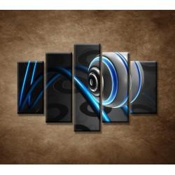 Obrazy na stenu - 3D guľa - 5dielny 150x100cm