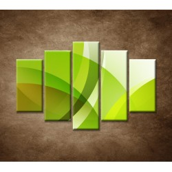 Obrazy na stenu - Zelená abstrakcia - 5dielny 150x100cm