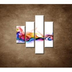 Obrazy na stenu - Farebný dym - 4dielny 80x90cm