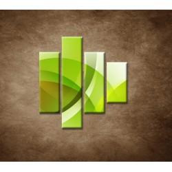 Obrazy na stenu - Zelená abstrakcia - 4dielny 80x90cm