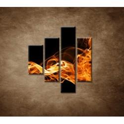 Obrazy na stenu - Oheň a dym - 4dielny 80x90cm