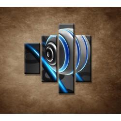 Obrazy na stenu - 3D guľa - 4dielny 80x90cm