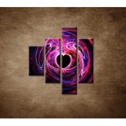 Obrazy na stenu - 3D srdce - 4dielny 80x90cm