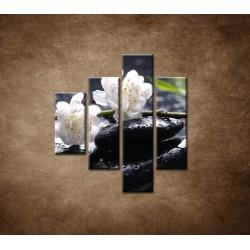Obrazy na stenu - Sakura na kameni - 4dielny 80x90cm