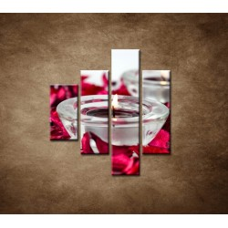 Obrazy na stenu - Aromaterapia - 4dielny 80x90cm