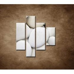 Obrazy na stenu - Biele kamene - 4dielny 80x90cm