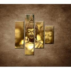 Obrazy na stenu - Socha Budhu - 4dielny 80x90cm