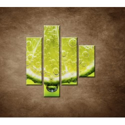 Obrazy na stenu - Plátok citróna - 4dielny 80x90cm