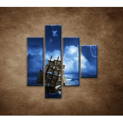 Obrazy na stenu - Búrka na mori - 4dielny 80x90cm