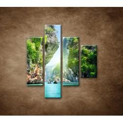 Obrazy na stenu - Raj - 4dielny 80x90cm