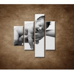 Obrazy na stenu - Dieťatko - 4dielny 80x90cm