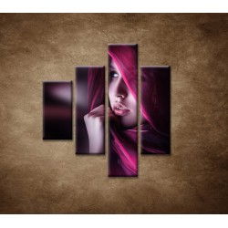 Obrazy na stenu - Žena so šatkou - 4dielny 80x90cm