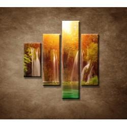 Obrazy na stenu - Vodopád 3 - 4dielny 80x90cm