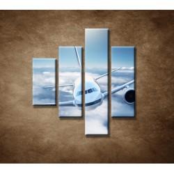 Obrazy na stenu - Boeing 747 - 4dielny 80x90cm