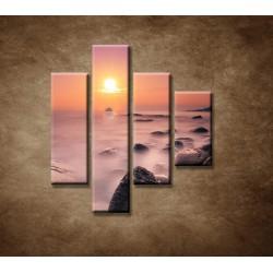 Obrazy na stenu - Východ slnka na pobreží - 4dielny 80x90cm